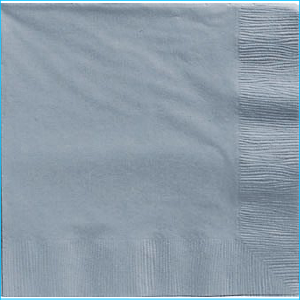 Silver Lunch Napkins pk20