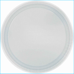Silver Paper Plates 9in pk20