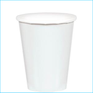 Frosty White Paper Cups pk20