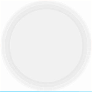 Frosty White Papet Plates 9in pk20