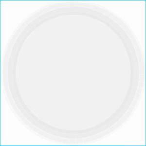 Frosty White Paper Plates pk20