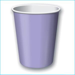 Lavender Paper Cups pk20