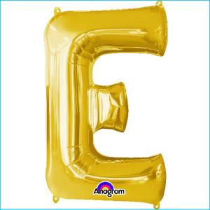 Airfill Letter E Gold Foil 40cm