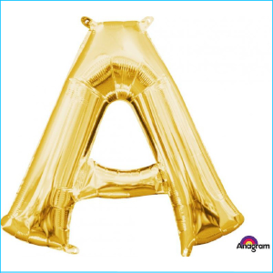 Airfill Letter A Gold Foil 40cm