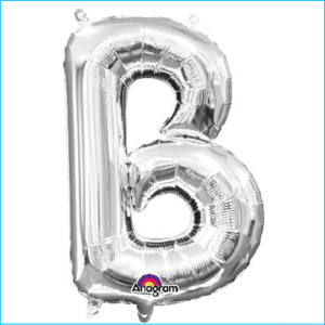 Airfill Letter B Silver Foil 40cm