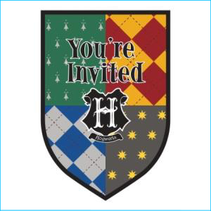 Harry Potter Invitations 8Pk