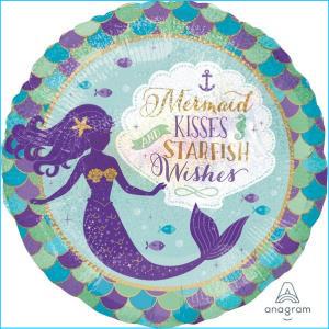 Mermaid Wishes & Kisses 45cm Foil