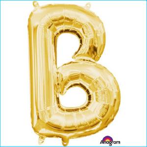 Airfill Letter B Gold Foil 40cm