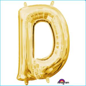 Airfill Letter D Gold Foil 40cm