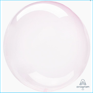 Crystal Clearz Light Pink Round Balloon