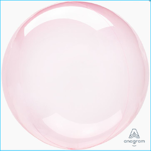 Crystal Clearz Dark Pink Round Balloon