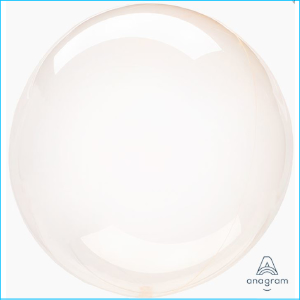 Crystal Clearz Orange Round Balloon