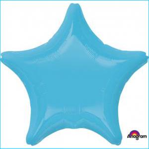 Star Foil Balloon Caribbean Blue 45cm