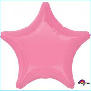 Star Foil BalloonBright Bubble Gum 45cm