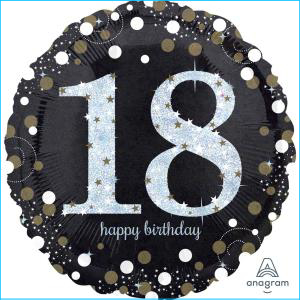 Holographic Sparkling Birthday 18 Foil