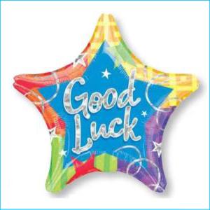 Holographic Star Good Luck Blitz 48cm