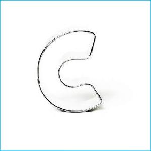Cookie Cutter Alphabet Letter C