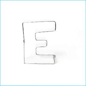 Cookie Cutter Alphabet Letter E