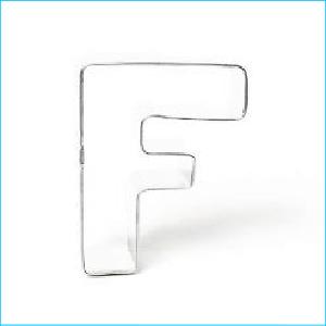 Cookie Cutter Alphabet Letter F