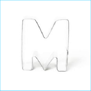 Cookie Cutter Alphabet Letter M