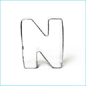 Cookie Cutter Alphabet Letter N