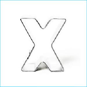Cookie Cutter Alphabet Letter X
