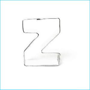 Cookie Cutter Alphabet Letter Z