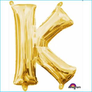 Airfill Letter K Gold Foil 40cm