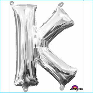 Airfill Letter K Silver Foil 40cm