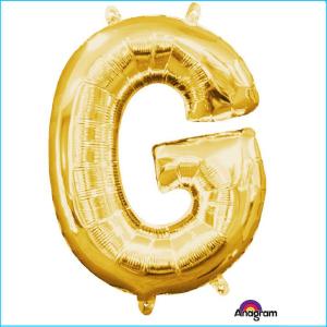 Airfill Letter G Gold Foil 40cm