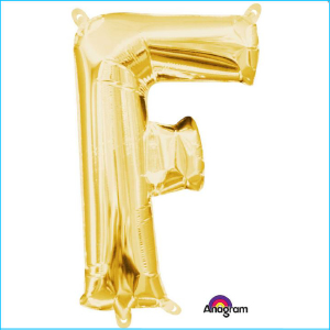 Airfill Letter F Gold Foil 40cm