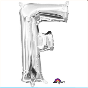 Airfill Letter F Silver Foil 40cm