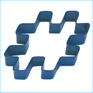 Cookie Cutter Hashtag 10cm Navy