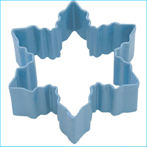 Cookie Cutter Snowflake 8cm Blue