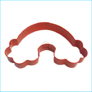Cookie Cutter Rainbow Cloud 12cm Red