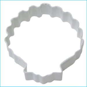 Cookie Cutter Seashell 8cm White