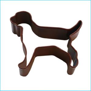 Cookie Cutter Dog Mini 5cm Brown
