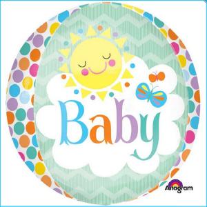 Foil Orbz Baby Colourful Sun 40cm