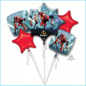 Foil Bouquet Incredibles 2 Set 5