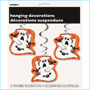 Hanging Ghost Decorations Pk 3