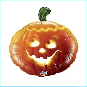 Super Foil Pumpkin Carved 76cm