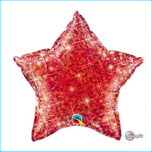 Foil 45cm Star Holographic Red