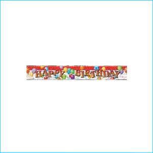 Happy Birthday Balloons Foil Banner 3.65