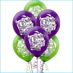 Latex Balloon Pack 6 Ninja Turtles TMNT