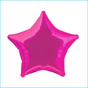 Foil 45cm Star Metallic Hot Pink