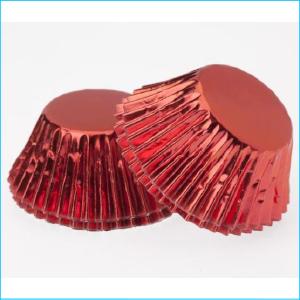Patty Pan Standard Red Foil Pk 25