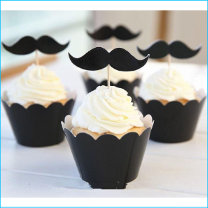 Cupcake Wrap and Topper Moustache
