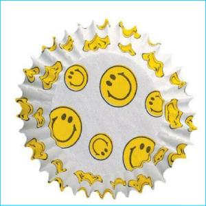 Patty Pan Mini Smiley Face Pk 48