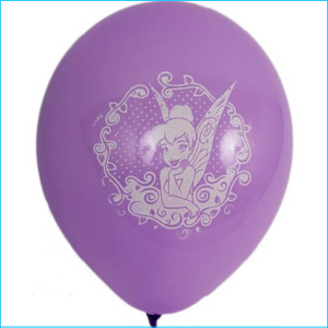 Latex Balloon Pack 6 Tinkerbell 30cm
