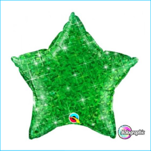 Foil 45cm Star Holographic Green